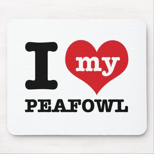 I love my peafowl mousepad