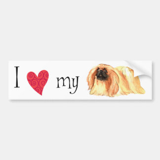 I Love my Pekingese Bumper Sticker