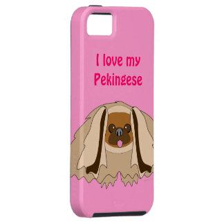 I Love My Pekingese Dog Breed Custom iphone Cover iPhone 5 Case