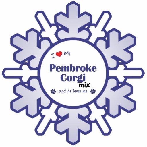 I Love My Pembroke Corgi Mix (Male Dog) Cut Outs