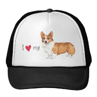 I Love my Pembroke Welsh Corgi Cap