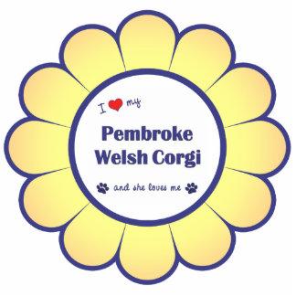 I Love My Pembroke Welsh Corgi (Female Dog) Photo Sculpture