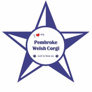 I Love My Pembroke Welsh Corgi (Male Dog) Photo Sculptures