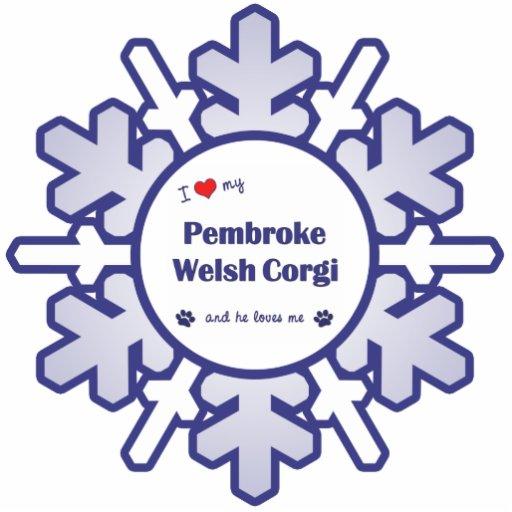 I Love My Pembroke Welsh Corgi (Male Dog) Cut Out