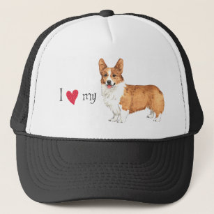 df3cb1ffcd8 I Love my Pembroke Welsh Corgi Trucker Hat