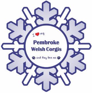 I Love My Pembroke Welsh Corgis (Multiple Dogs) Cut Out