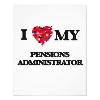 I love my Pensions Administrator 11.5 Cm X 14 Cm Flyer