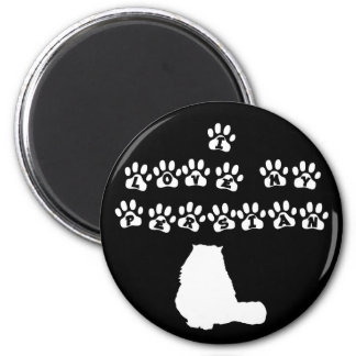 I Love My Persian--White Text 6 Cm Round Magnet