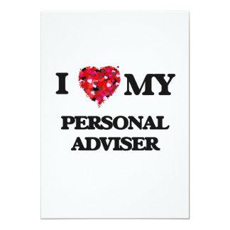 I love my Personal Adviser 13 Cm X 18 Cm Invitation Card