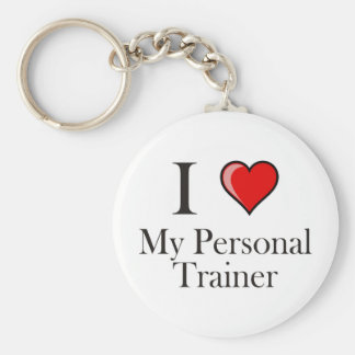 I love my Personal Trainer Basic Round Button Key Ring