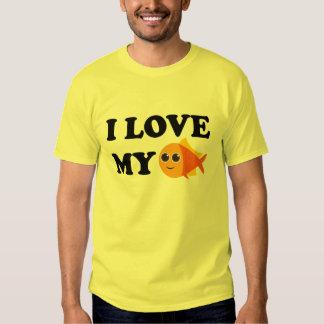 I Love My Pet Goldfish T-shirt