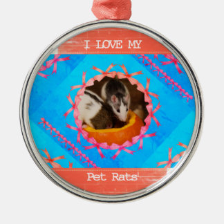 I Love my Pet Rats Photo Christmas Ornament