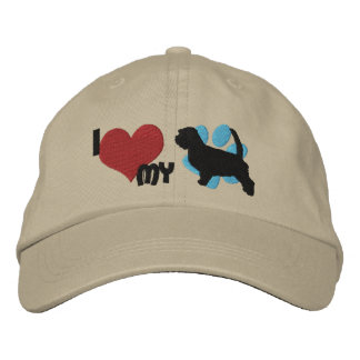 I Love my Petit Basset Griffon Vendeen Embroidered Baseball Cap