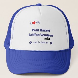 I Love My Petit Basset Griffon Vendeen Mix (Male) Trucker Hat