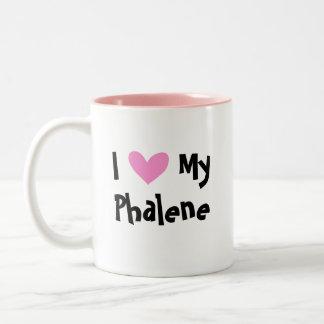 I Love My Phalene / Japanese Chin Two-Tone Coffee Mug
