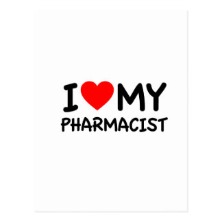 I love my pharmacist postcard