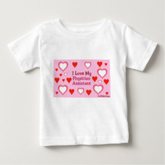 I Love My Physician Assistant - Hearts Baby T-Shirt