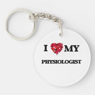 I love my Physiologist Single-Sided Round Acrylic Key Ring