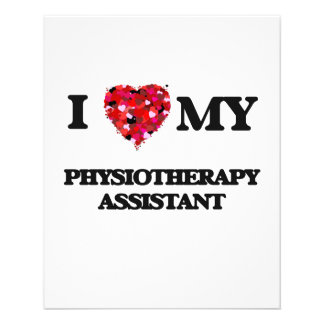 I love my Physiotherapy Assistant 11.5 Cm X 14 Cm Flyer
