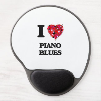 I Love My PIANO BLUES Gel Mouse Pad
