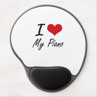 I Love My Piano Gel Mouse Pad