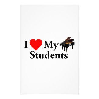 I Love My Piano Students Custom Stationery