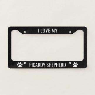 I Love My Picardy Shepherd Licence Plate Frame