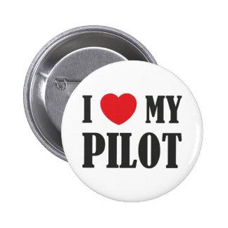 I love My Pilot 6 Cm Round Badge