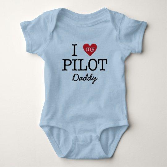 I Love My Pilot Daddy Baby Bodysuit