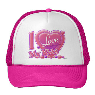 I Love My pink/purple - heart Cap