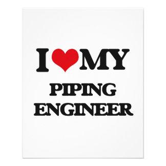 I love my Piping Engineer 11.5 Cm X 14 Cm Flyer