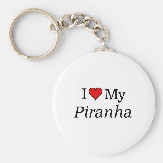 I love my Piranha Basic Round Button Key Ring