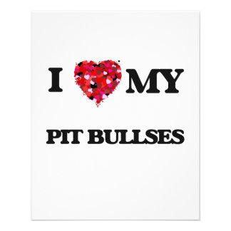 I love my Pit Bull 11.5 Cm X 14 Cm Flyer