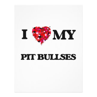 I love my Pit Bull 21.5 Cm X 28 Cm Flyer