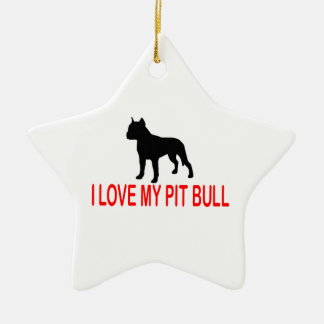 I LOVE MY PIT BULL 2730 CHRISTMAS ORNAMENT