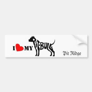 I love my pit bull bumper sticker