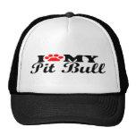 I Love My Pit Bull Cap