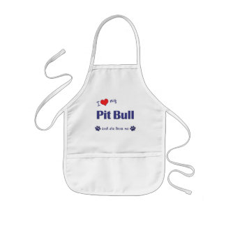 I Love My Pit Bull (Female Dog) Kids' Apron