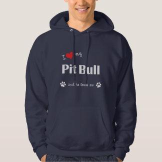 I Love My Pit Bull (Male Dog) Hoodie