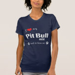 I Love My Pit Bull Mix (Male Dog) Tshirt