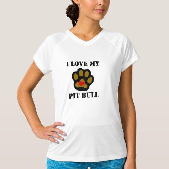 I Love My Pit Bull T-Shirt