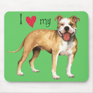 I Love my Pit Bull Terrier Mouse Mat