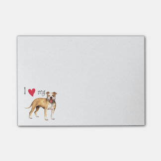 I Love my Pit Bull Terrier Post-it® Notes