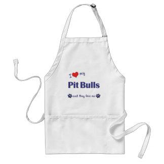 I Love My Pit Bulls (Multiple Dogs) Standard Apron
