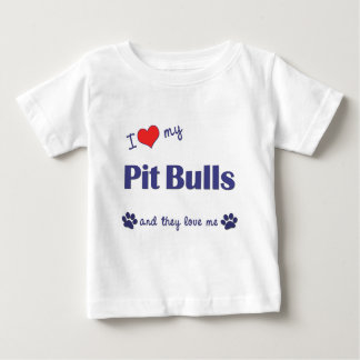 I Love My Pit Bulls (Multiple Dogs) T Shirts