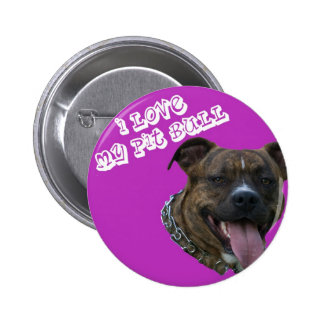 I love my pitbull button