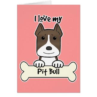 I Love My Pitbull Stationery Note Card