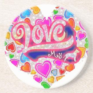 I Love My Pitbull Coasters