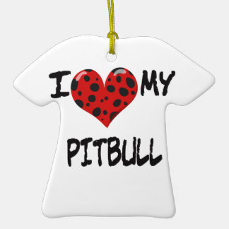 I love my Pitbull Ornaments