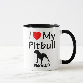 I Love My Pitbull Dog Mug